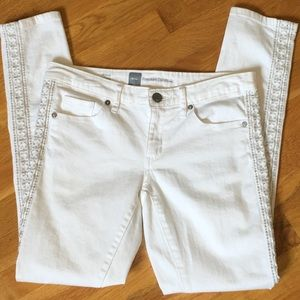 Mossimo White Skinny Jeans Size 4